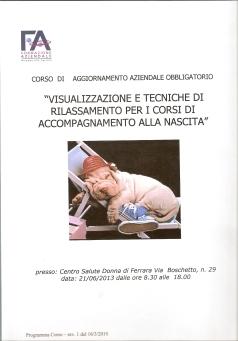 Ferrara Visualizzazione e stretching in gravidanza e in travaglio